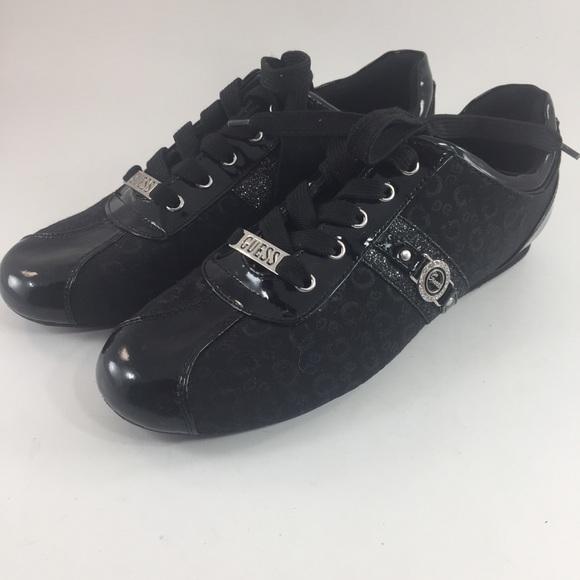 🆕 Guess Black Lace Up Shoes GFSherrill Women's 10